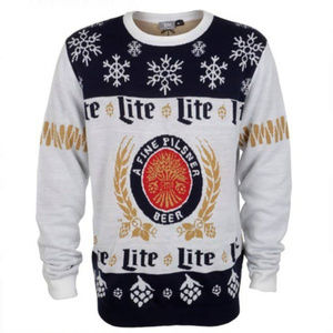 Miller Lite Ugly Christmas Sweater size Large